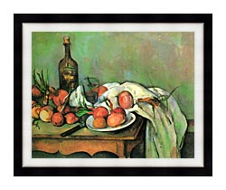 Paul Cezanne Still Life With Onions canvas with modern black frame