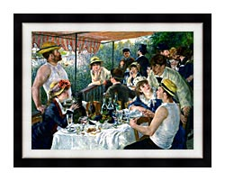 Pierre Auguste Renoir The Luncheon Of The Boating Party canvas with modern black frame