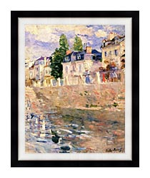 Berthe Morisot The Quay At Bougival canvas with modern black frame