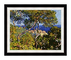 Claude Monet Bordighera canvas with modern black frame