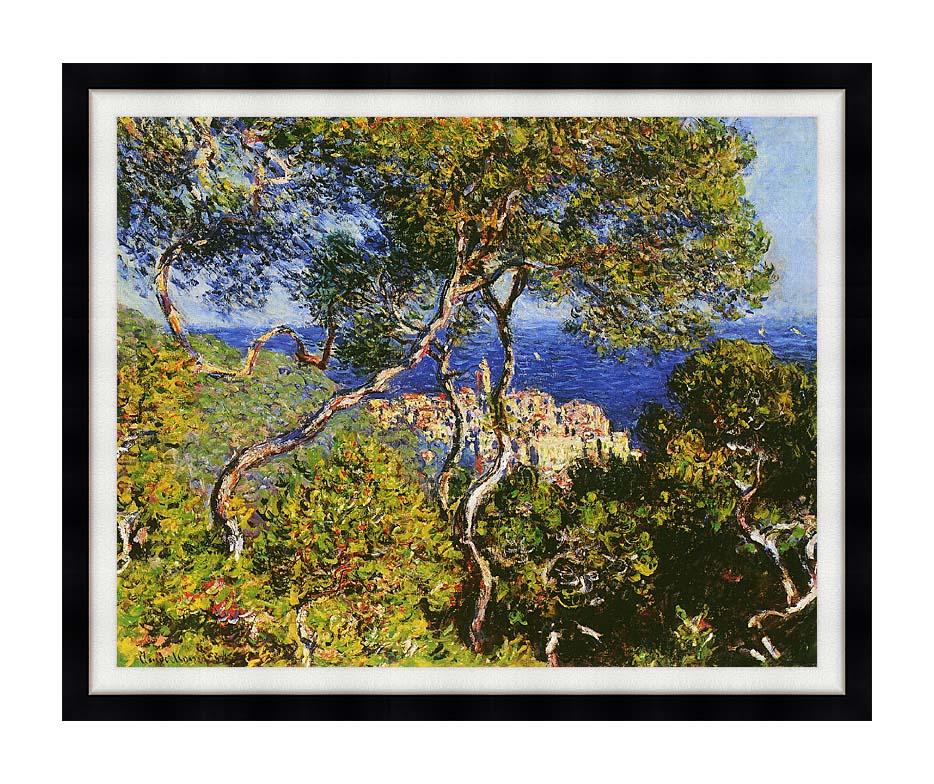 Claude Monet Bordighera with Modern Black Frame