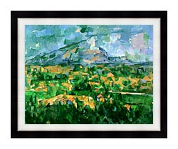 Paul Cezanne Mont Sainte Victoire 1904 canvas with modern black frame