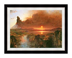 Frederic Edwin Church Cotopaxi Detail canvas with modern black frame