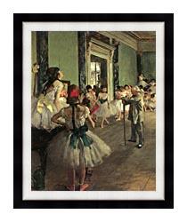 Edgar Degas Dance Class canvas with modern black frame