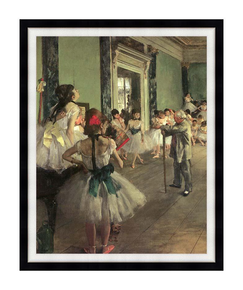 Edgar Degas Dance Class with Modern Black Frame