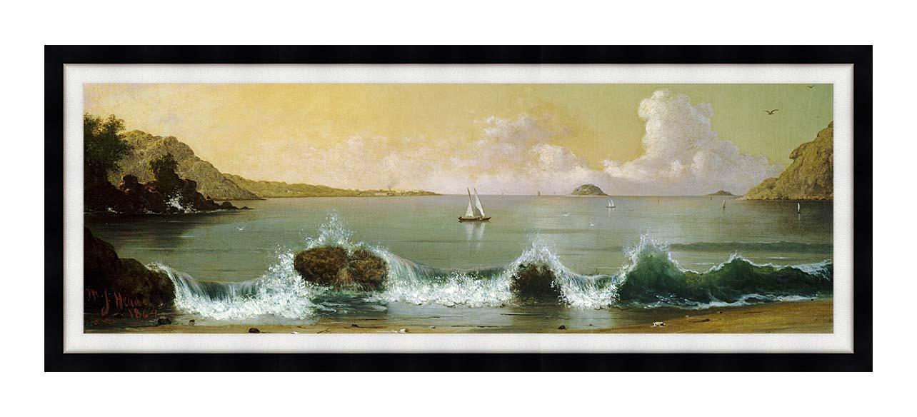 Martin Johnson Heade Rio de Janeiro Bay (Panoramic View) with Modern Black Frame