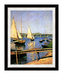 Gustave Caillebotte Sailing Boats At Argenteuil canvas with modern black frame