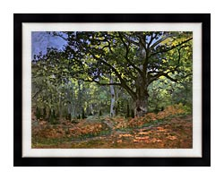 Claude Monet The Bodmer Oak Forest Of Fontainebleau canvas with modern black frame