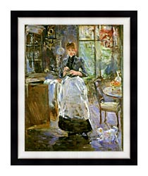Berthe Morisot In The Dining Room canvas with modern black frame