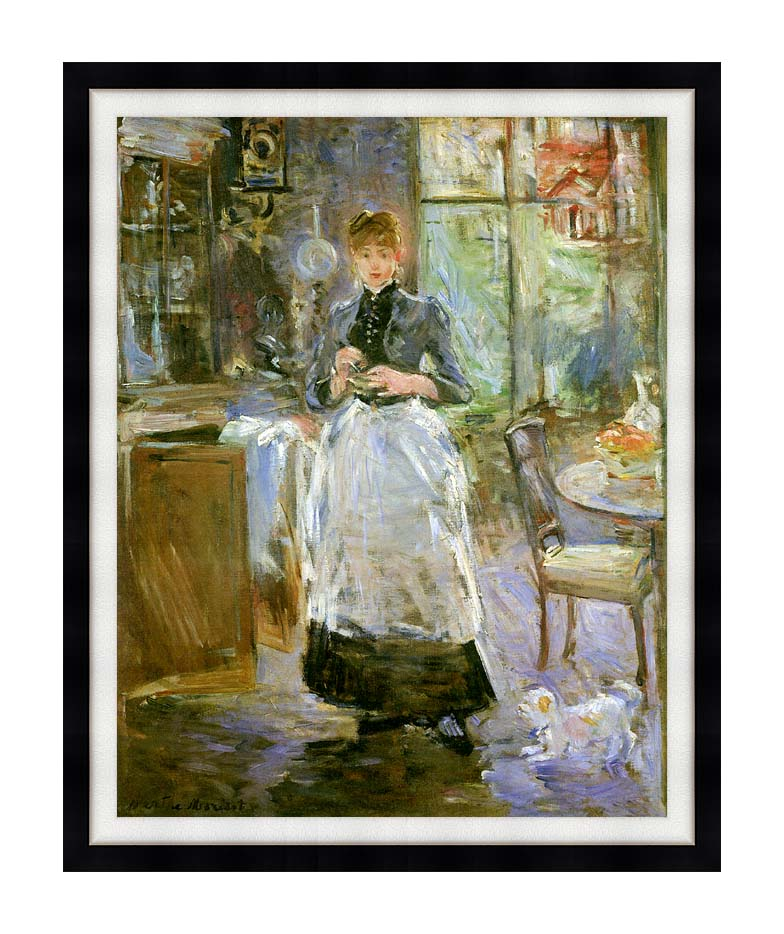 Berthe Morisot In the Dining Room with Modern Black Frame