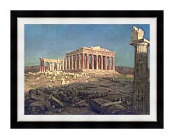 Frederic Edwin Church The Parthenon Detail canvas with modern black frame