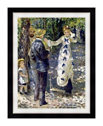 Pierre Auguste Renoir The Swing canvas with modern black frame