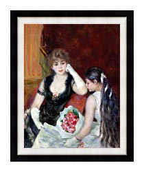 Pierre Auguste Renoir At The Concert canvas with modern black frame