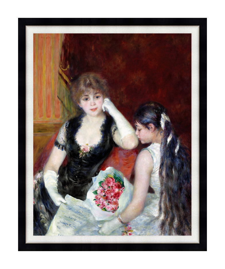 Pierre Auguste Renoir At the Concert with Modern Black Frame