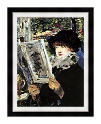 Edouard Manet The Reader canvas with modern black frame