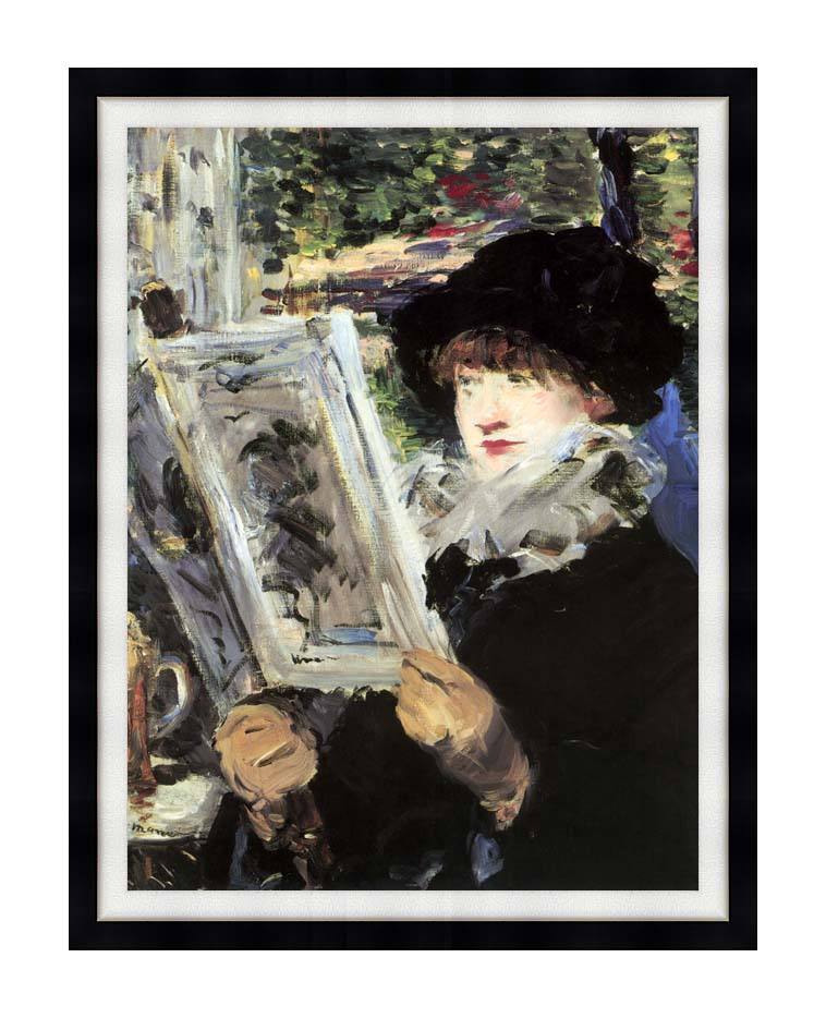 Edouard Manet The Reader with Modern Black Frame