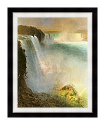 Frederic Edwin Church Niagara Falls From The American Side canvas with modern black frame