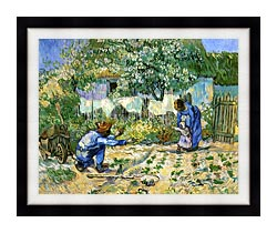 Vincent Van Gogh First Steps canvas with modern black frame