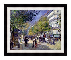Pierre Auguste Renoir The Great Boulevards canvas with modern black frame