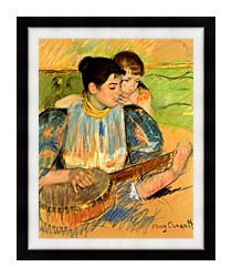 Mary Cassatt The Banjo Lesson canvas with modern black frame