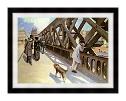 Gustave Caillebotte Le Pont De Leurope canvas with modern black frame