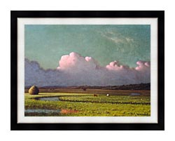 Martin Johnson Heade Sunlight And Shadow The Newbury Marshes Detail canvas with modern black frame
