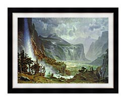 Albert Bierstadt The Domes Of The Yosemite canvas with modern black frame