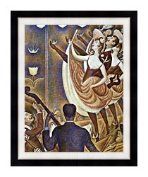 Georges Seurat Le Chahut canvas with modern black frame