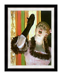 Edgar Degas Singer With A Glove canvas with modern black frame