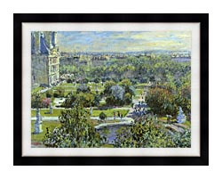 Claude Monet The Tuileries canvas with modern black frame