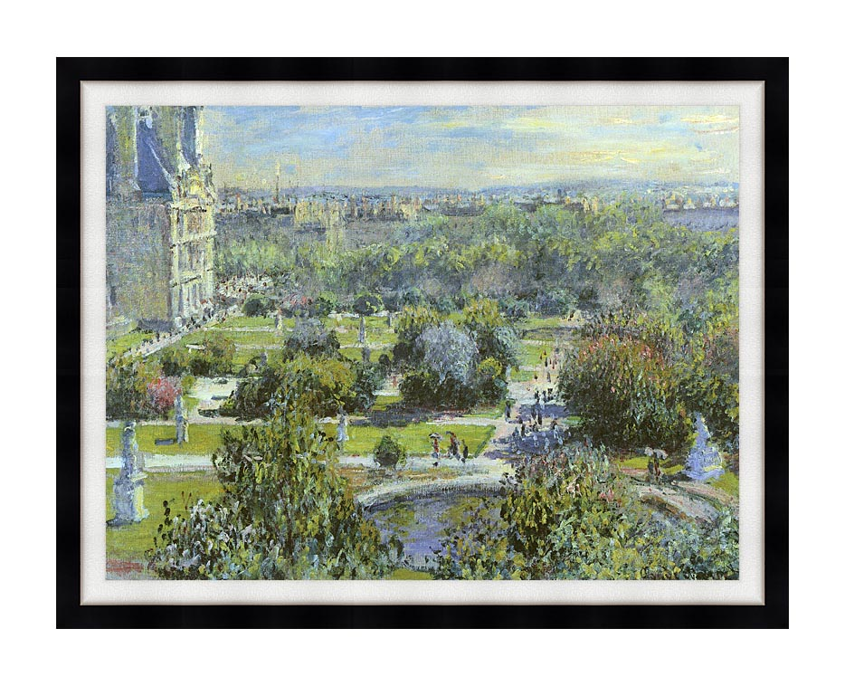 Claude Monet The Tuileries with Modern Black Frame