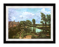John Constable A Water Mill canvas with modern black frame