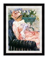 Mary Cassatt The Cup Of Tea canvas with modern black frame