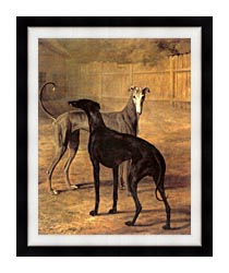Jacques Laurent Agasse Rolla And Portia canvas with modern black frame