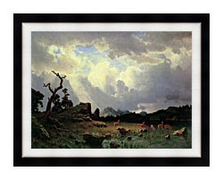 Albert Bierstadt Thunderstorm In The Rocky Mountains canvas with modern black frame