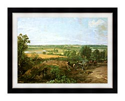 John Constable View Of Dedham canvas with modern black frame
