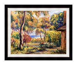 Pierre Auguste Renoir Landscape At Cagnes canvas with modern black frame