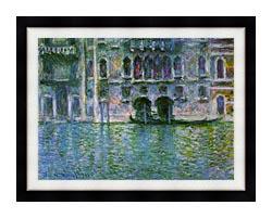 Claude Monet Venice Palazzo Da Mula canvas with modern black frame
