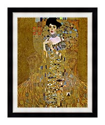 Gustav Klimt Adele Bloch Bauer I Detail canvas with modern black frame