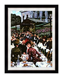 James Tissot The Painters And Their Wives canvas with modern black frame