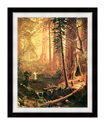 Albert Bierstadt Giant Redwoods Of California canvas with modern black frame