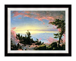 Frederic Edwin Church Above The Clouds At Sunrise canvas with modern black frame