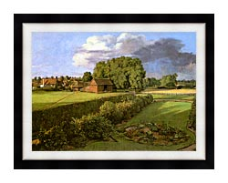 John Constable Golding Constables Flower Garden canvas with modern black frame