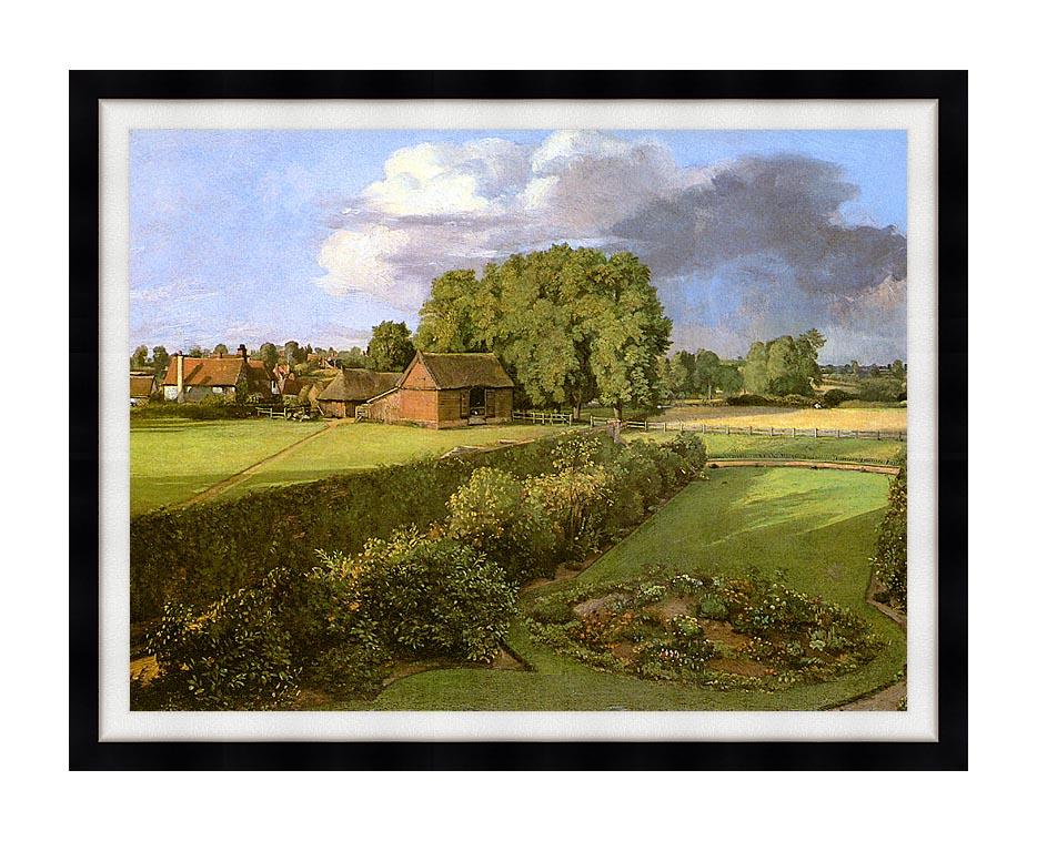 John Constable Golding Constable's Flower Garden with Modern Black Frame