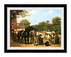 Jacques Laurent Agasse The Country Fair canvas with modern black frame