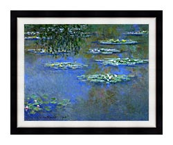 Claude Monet Water Lilies 1903 canvas with modern black frame