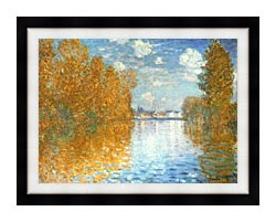 Claude Monet The Seine At Argenteuil Autumn Effect canvas with modern black frame