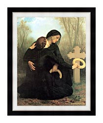 William Bouguereau All Saints Day canvas with modern black frame