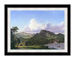 Frederic Edwin Church Home By The Lake canvas with modern black frame