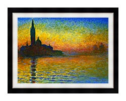 Claude Monet San Giorgio Maggiore At Dusk Venice canvas with modern black frame